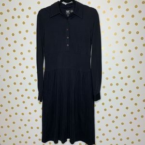 Worth Long Sleeve Pleat Front Button Down Dress 6